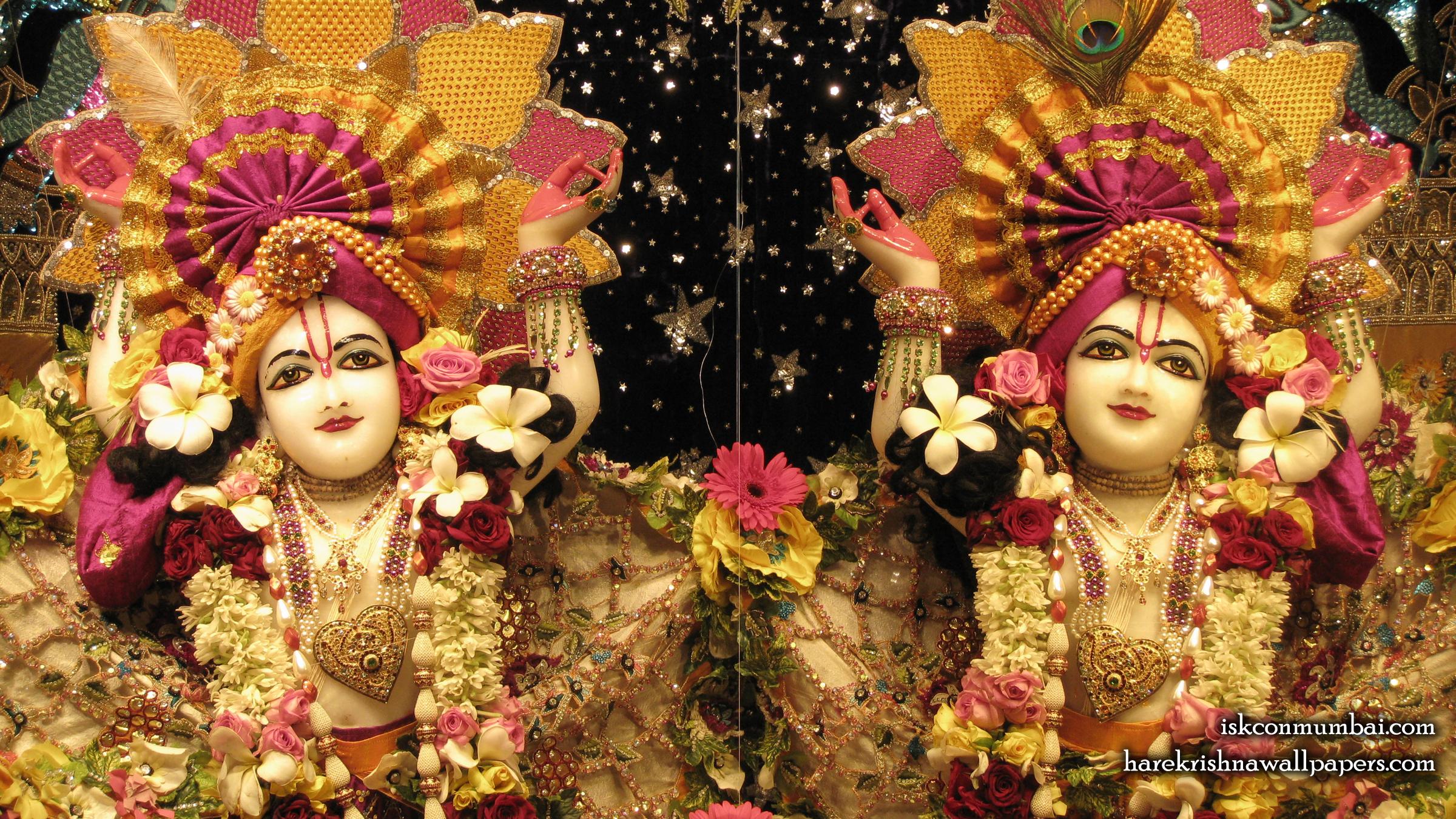 Sri Sri Gaura Nitai Close up Wallpaper (007) Size 2400x1350 Download