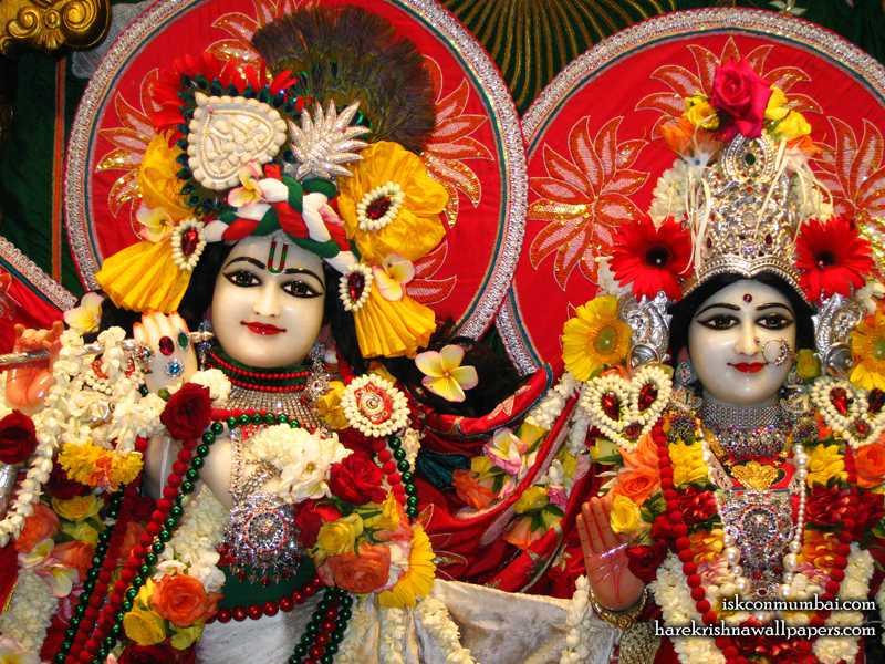 Sri Sri Radha Rasabihari Close up Wallpaper (007)