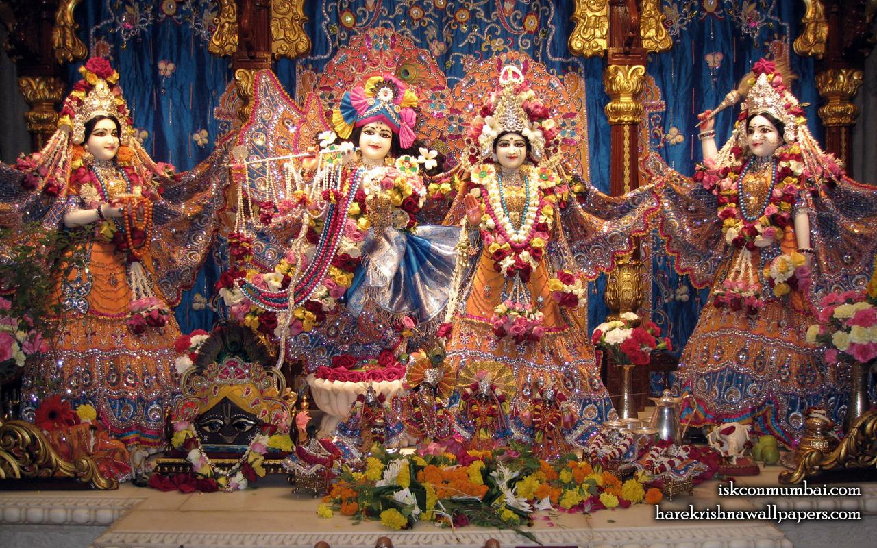 Sri Sri Radha Rasabihari Lalita Vishakha Wallpaper (007) Size 1280x800 Download
