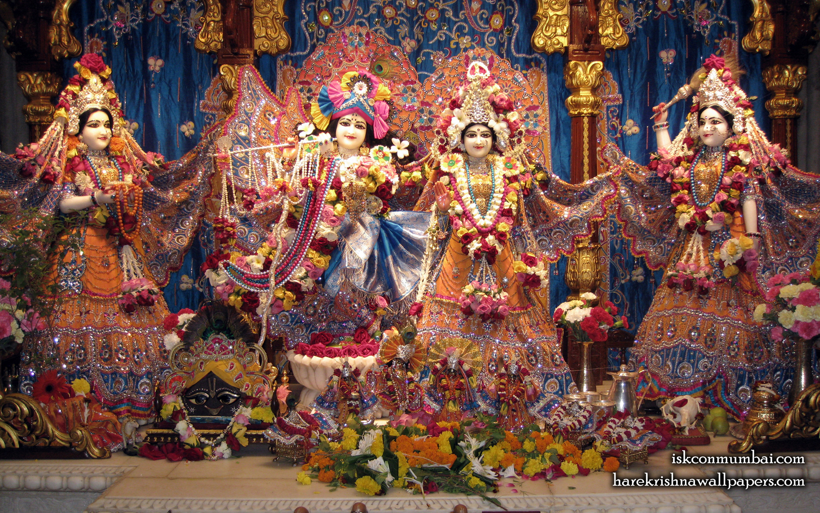 Sri Sri Radha Rasabihari Lalita Vishakha Wallpaper (007) Size 1680x1050 Download