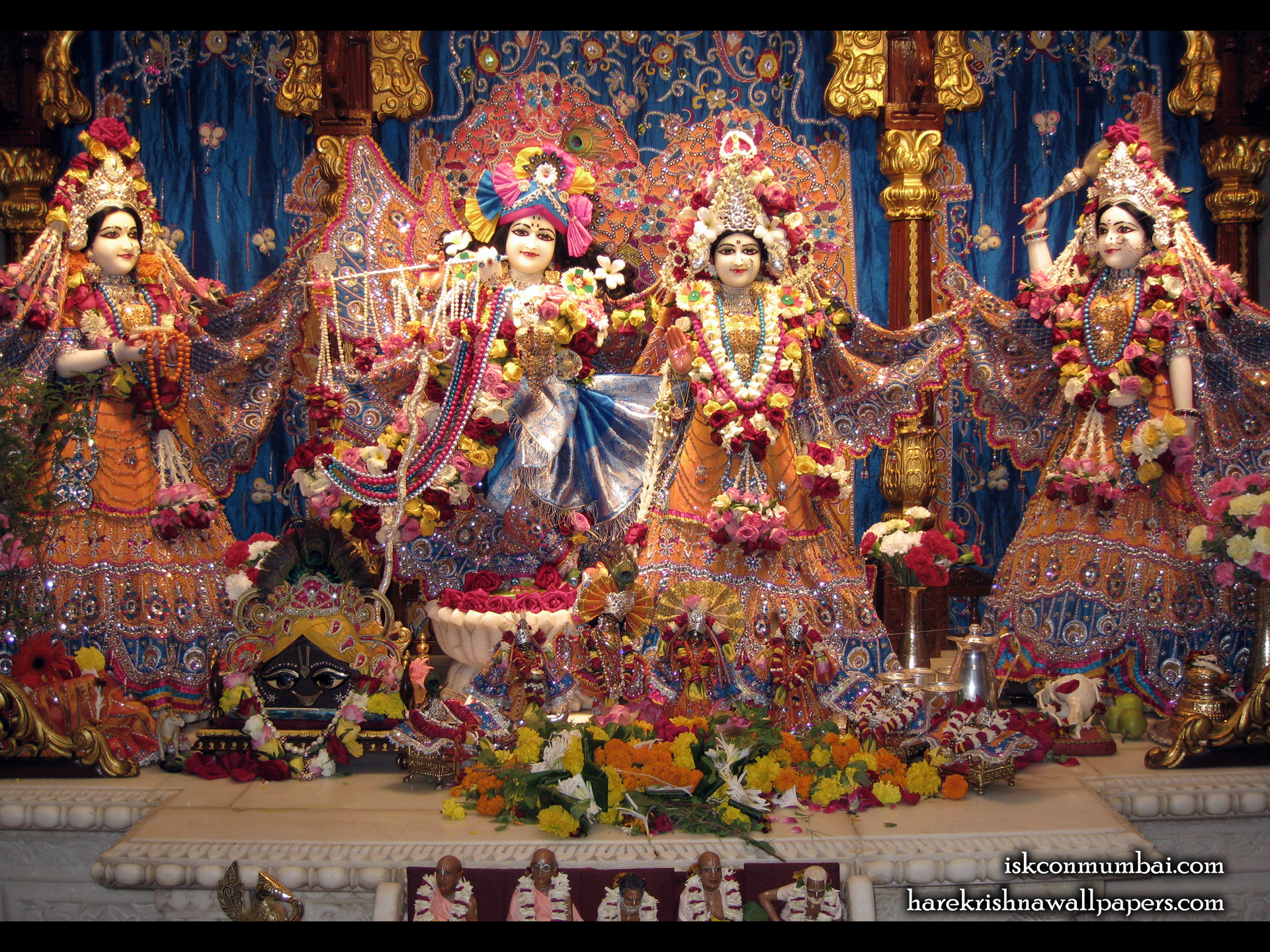 Sri Sri Radha Rasabihari Lalita Vishakha Wallpaper (007) Size 1920x1440 Download