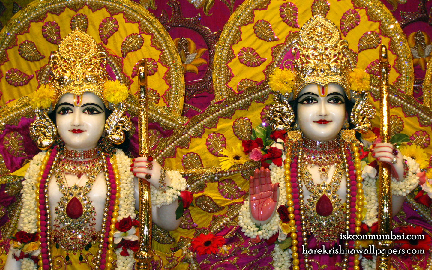 Sri Sri Rama Laxman Close up Wallpaper (007) Size 1440x900 Download
