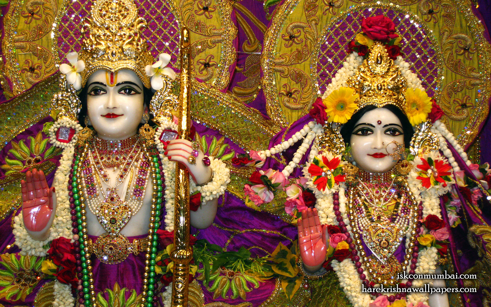 Sri Sri Sita Rama Close up Wallpaper (007) Size 1680x1050 Download