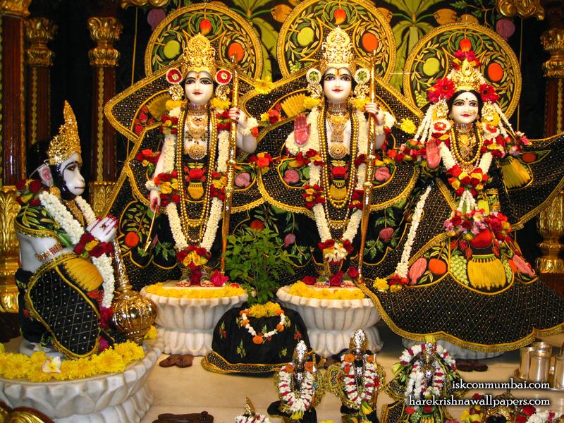 Sri Sri Sita Rama Laxman Hanuman Wallpaper (007) Size 800x600 Download