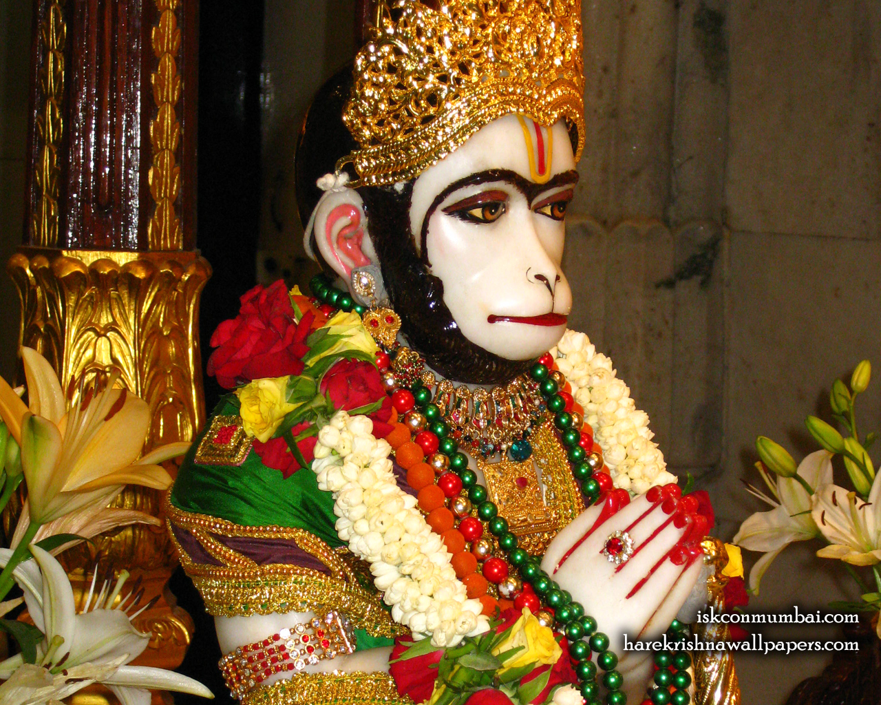 Sri Hanuman Face Wallpaper (008) Size 1280x1024 Download