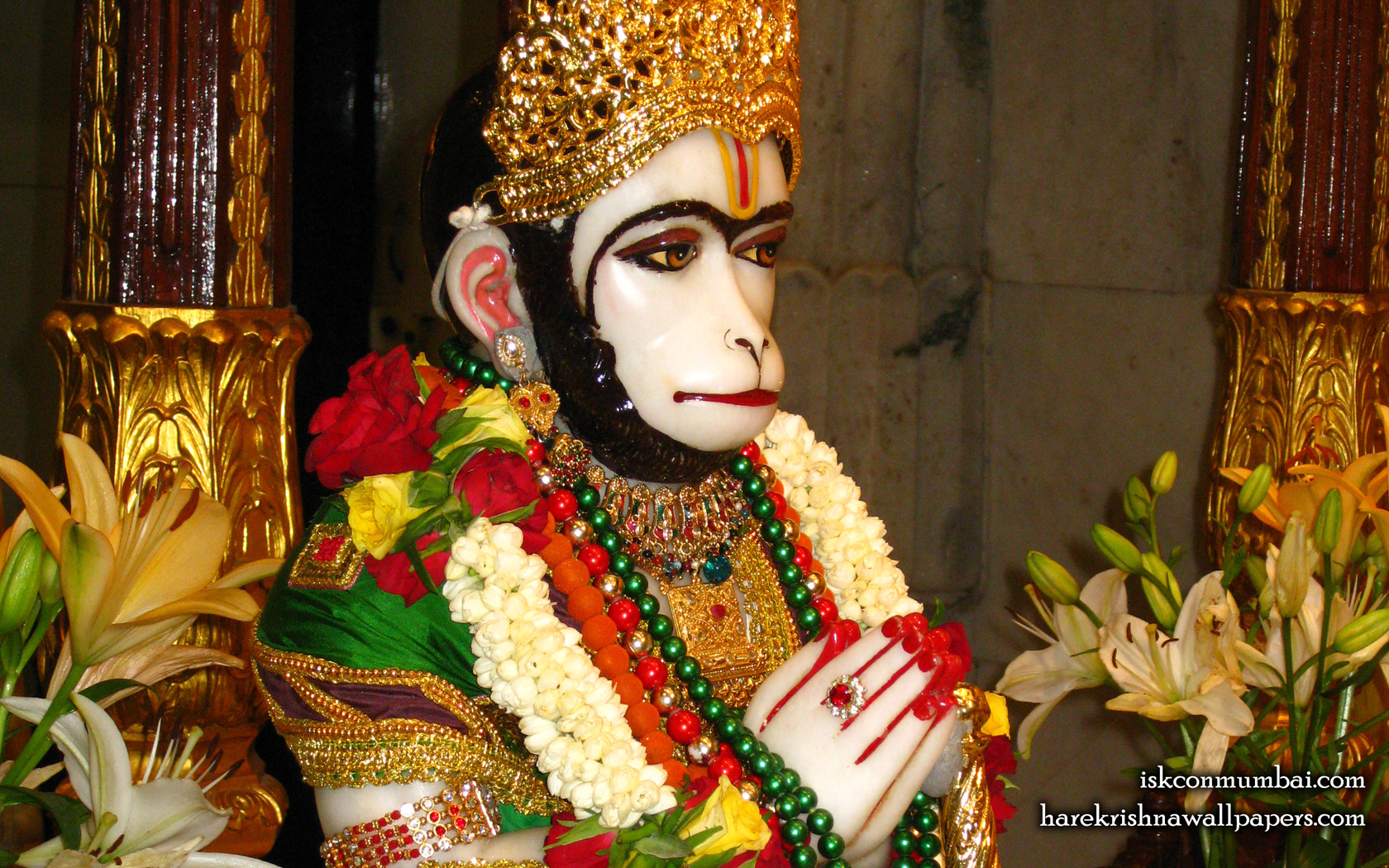 Sri Hanuman Face Wallpaper (008) Size 1680x1050 Download
