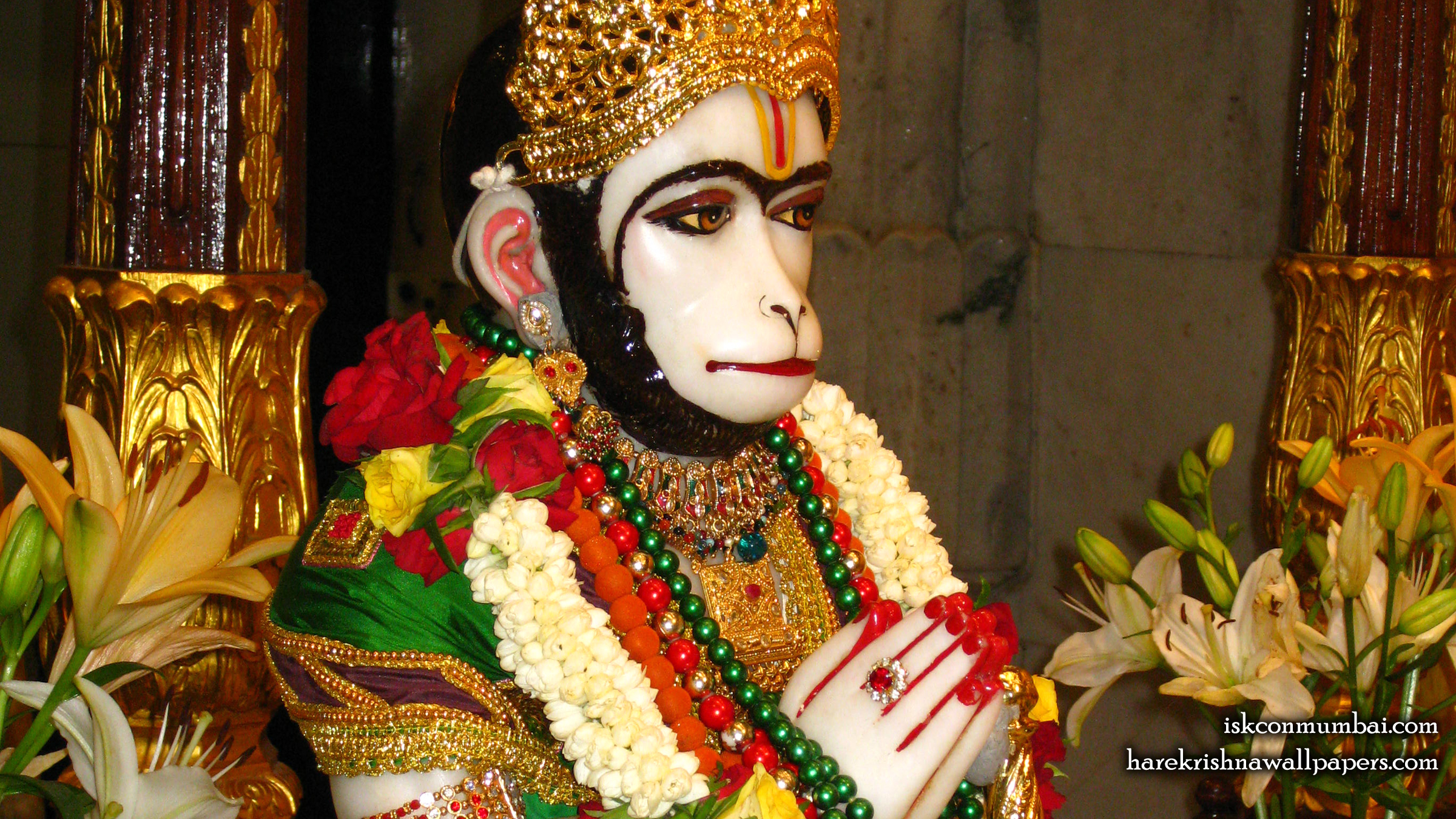 Sri Hanuman Face Wallpaper (008) Size 2400x1350 Download