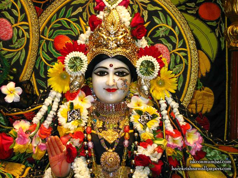 Sri Radha Face Wallpaper (008)