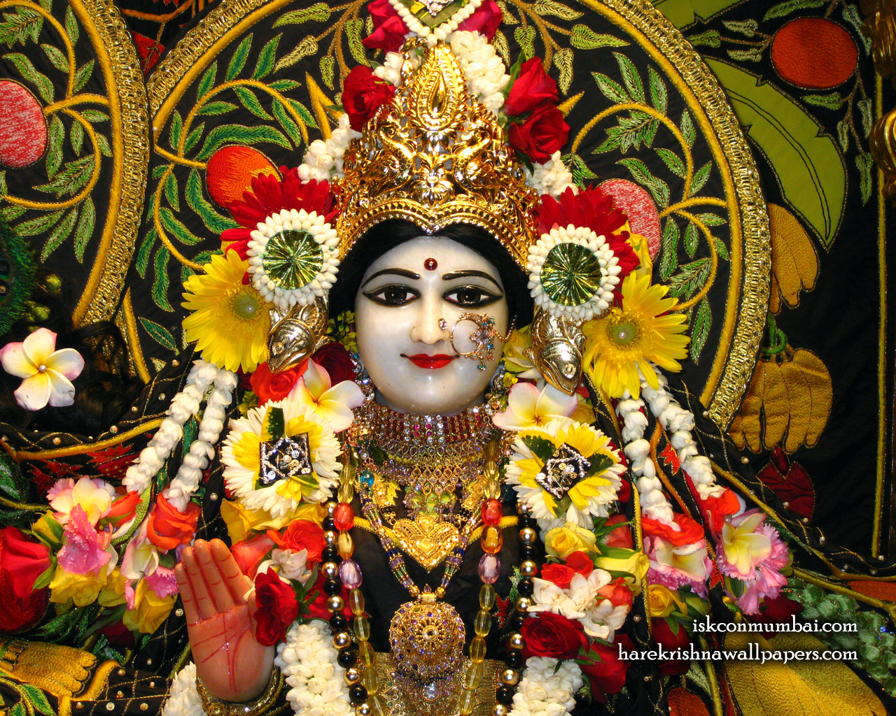 Sri Radha Face Wallpaper (008) Size 1280x1024 Download