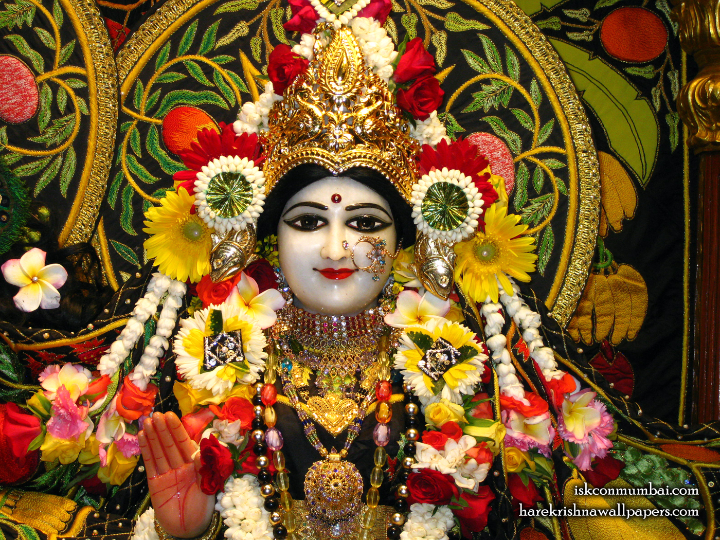 Sri Radha Face Wallpaper (008) Size 1400x1050 Download