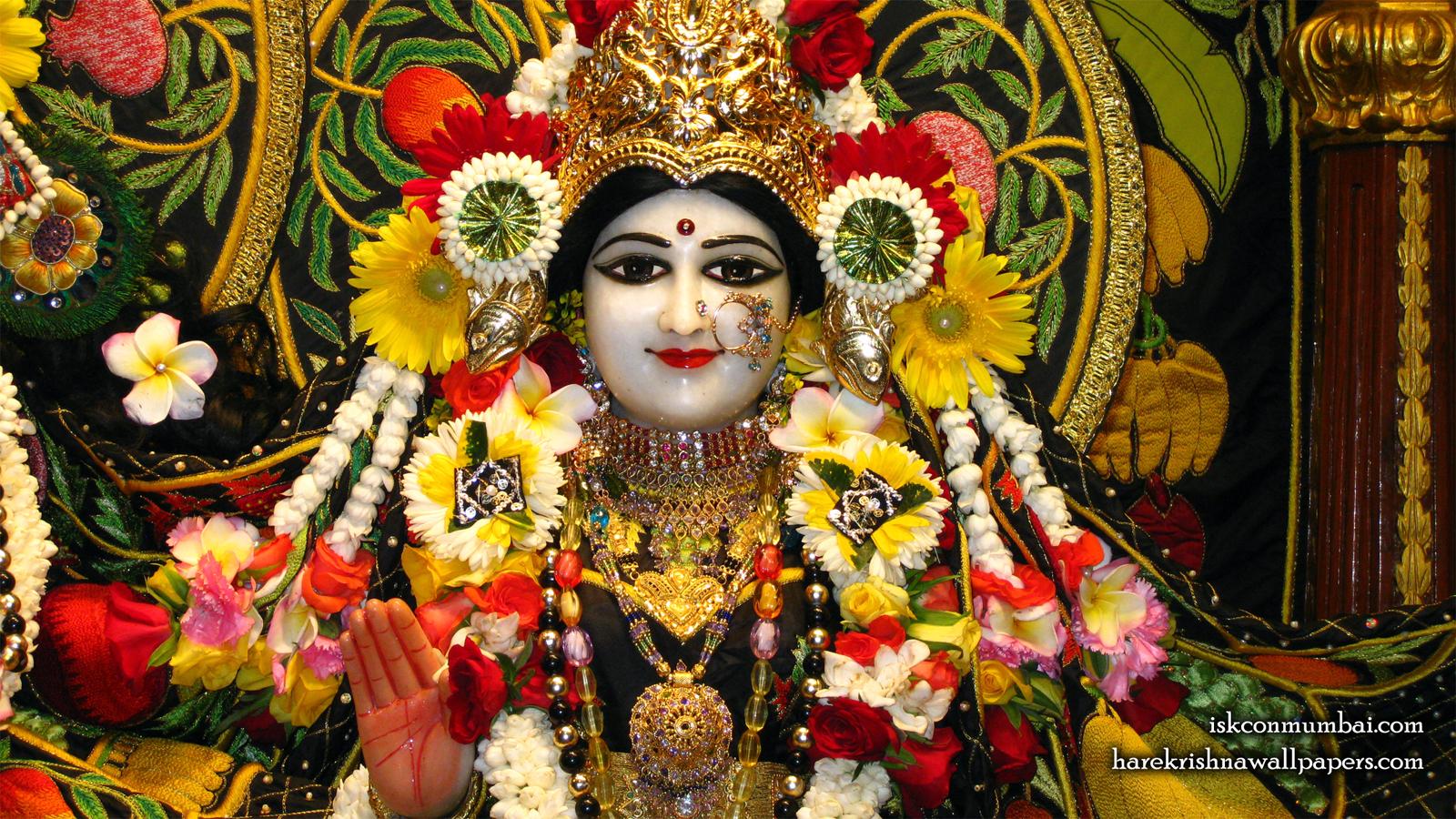 Sri Radha Face Wallpaper (008) Size 1600x900 Download