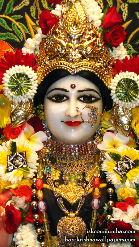 Sri Radha Face Wallpaper (008) Size 450x800 Download
