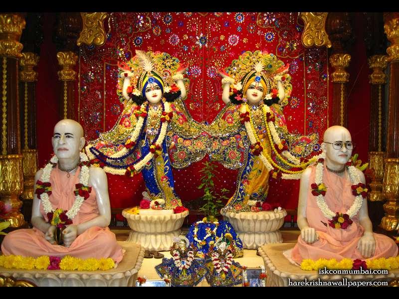 Sri Sri Gaura Nitai with Acharyas Wallpaper (008)