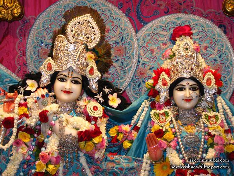 Sri Sri Radha Rasabihari Close up Wallpaper (008)