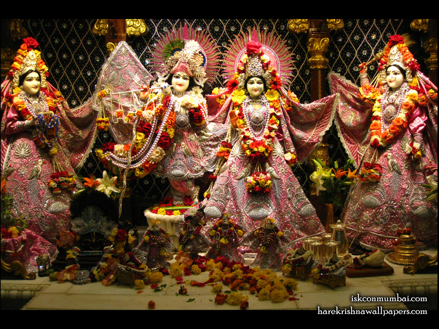 Sri Sri Radha Rasabihari Lalita Vishakha Wallpaper (008) Size 1400x1050 Download