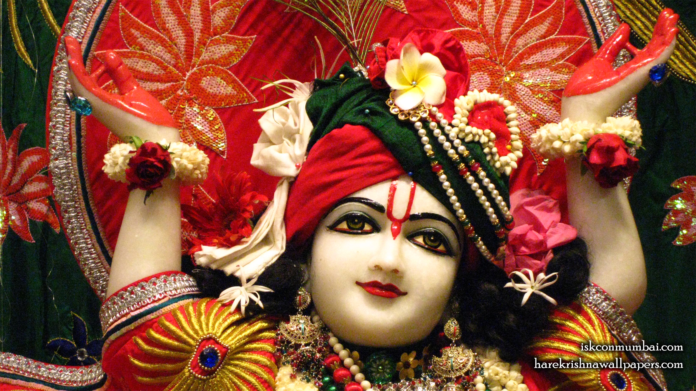 Sri Gauranga Face Wallpaper (009) Size 2400x1350 Download