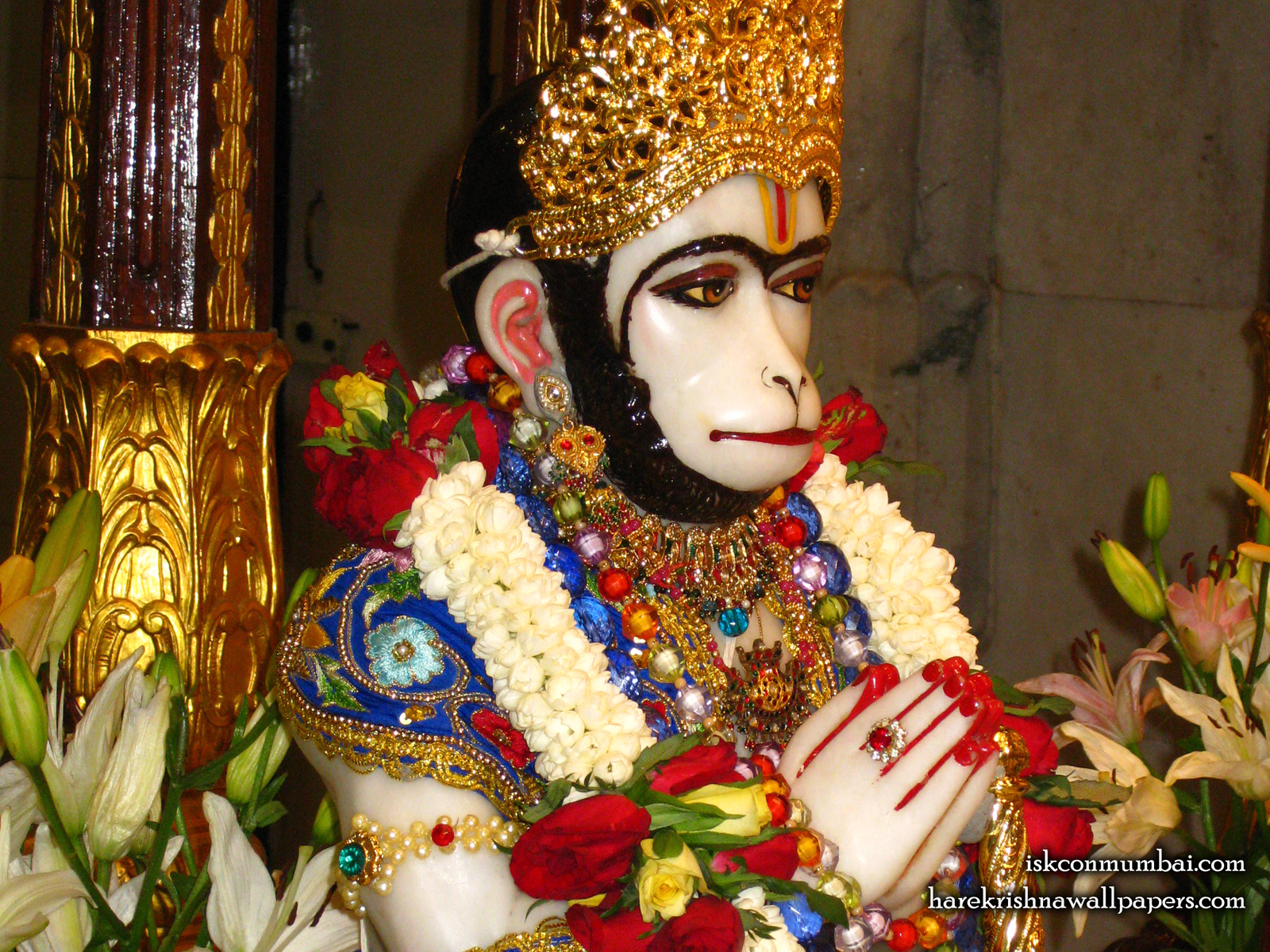 Sri Hanuman Face Wallpaper (009) Size1600x1200 Download