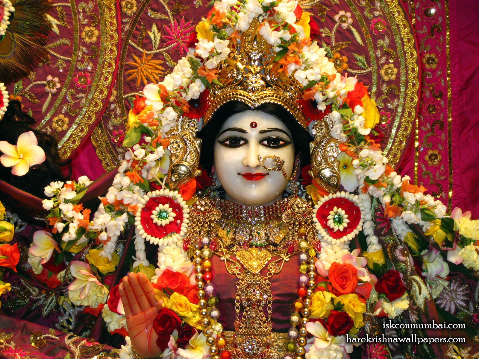 Sri Radha Face Wallpaper (009) Size1600x1200 Download