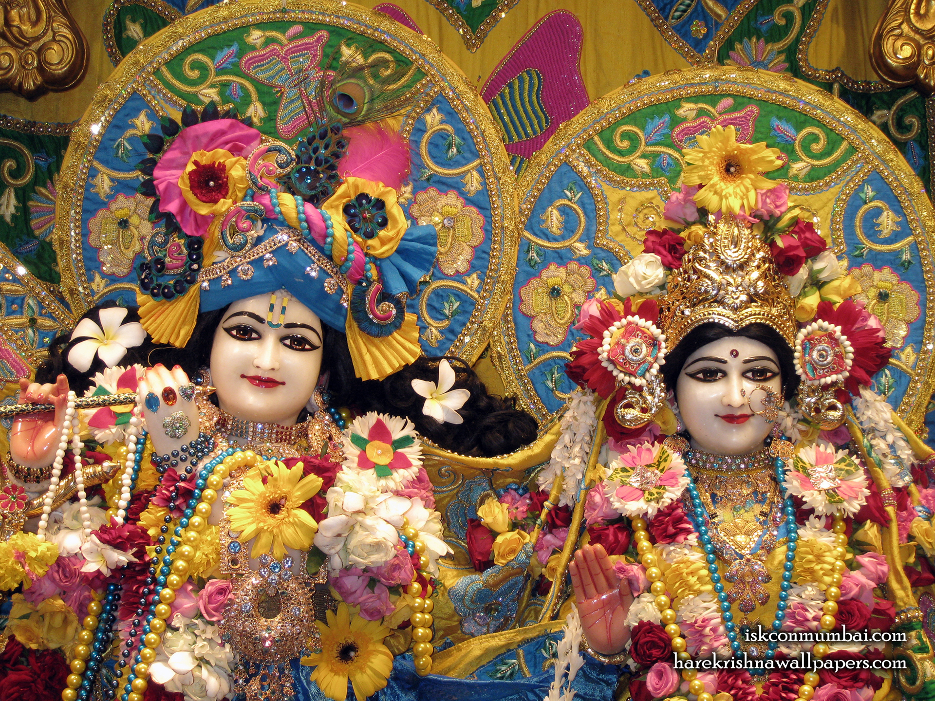 Sri Sri Radha Rasabihari Close up Wallpaper (009) Size 1920x1440 Download