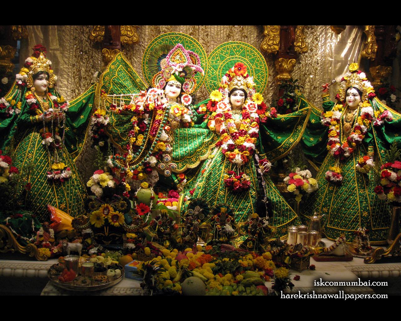 Sri Sri Radha Rasabihari Lalita Vishakha Wallpaper (009) Size 1280x1024 Download