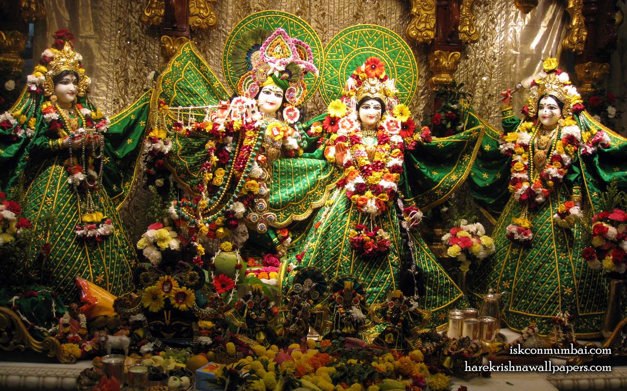 Sri Sri Radha Rasabihari Lalita Vishakha Wallpaper (009) Size 1280x800 Download