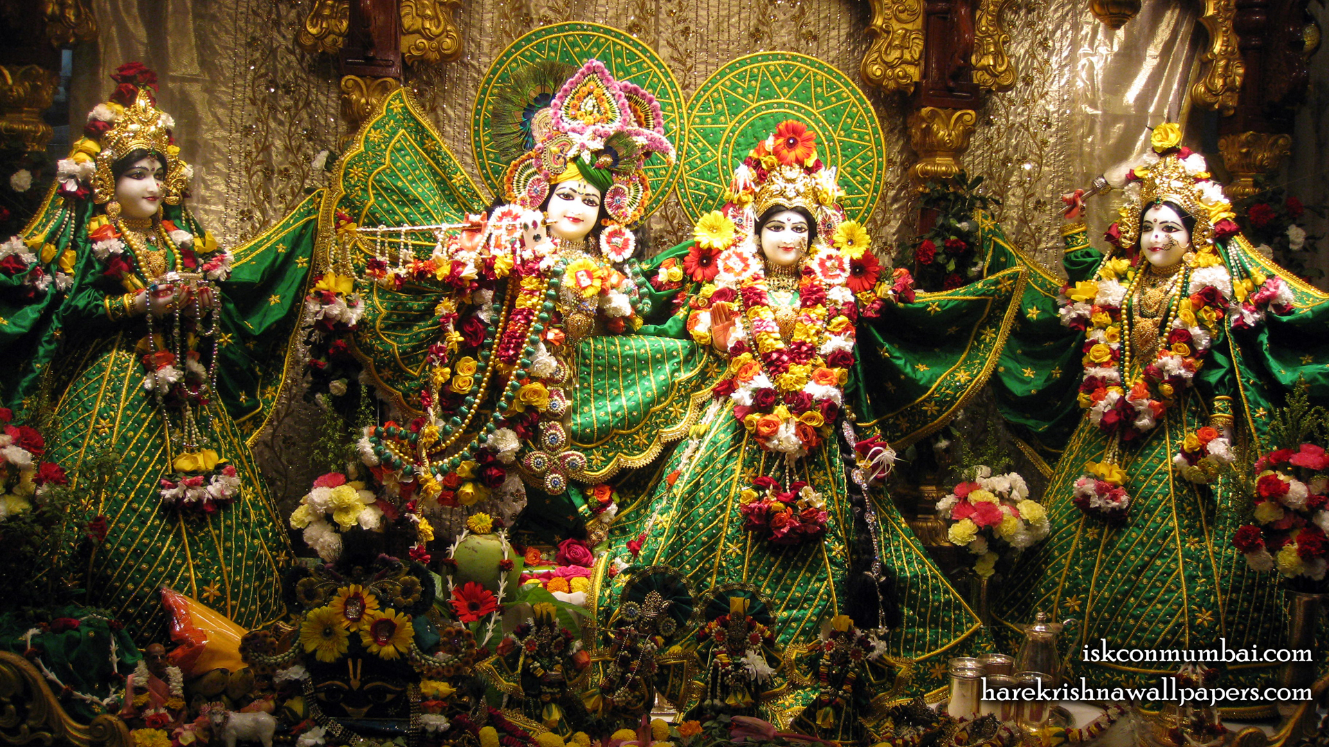 Sri Sri Radha Rasabihari Lalita Vishakha Wallpaper (009) Size 1920x1080 Download