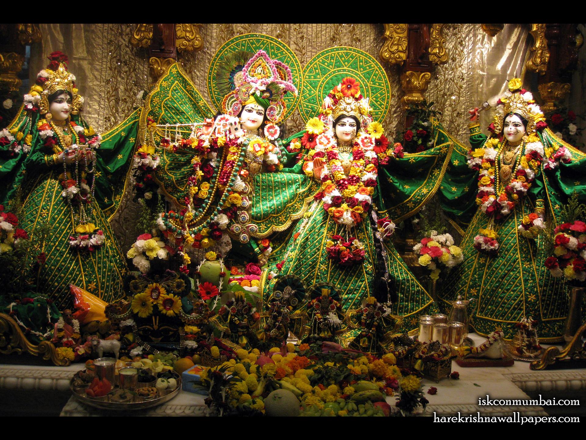 Sri Sri Radha Rasabihari Lalita Vishakha Wallpaper (009) Size 1920x1440 Download
