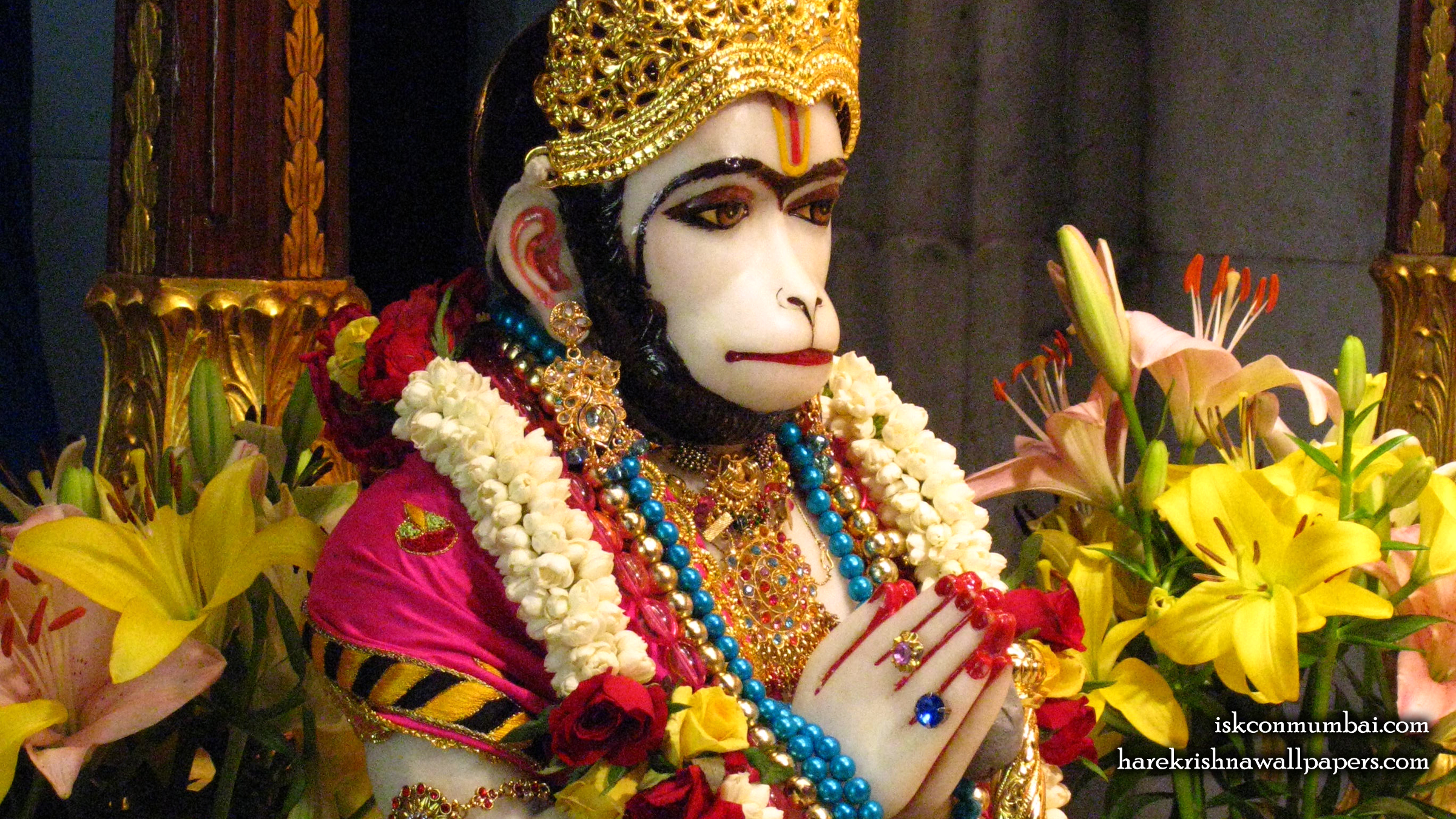 Sri Hanuman Face Wallpaper (010) Size 2400x1350 Download