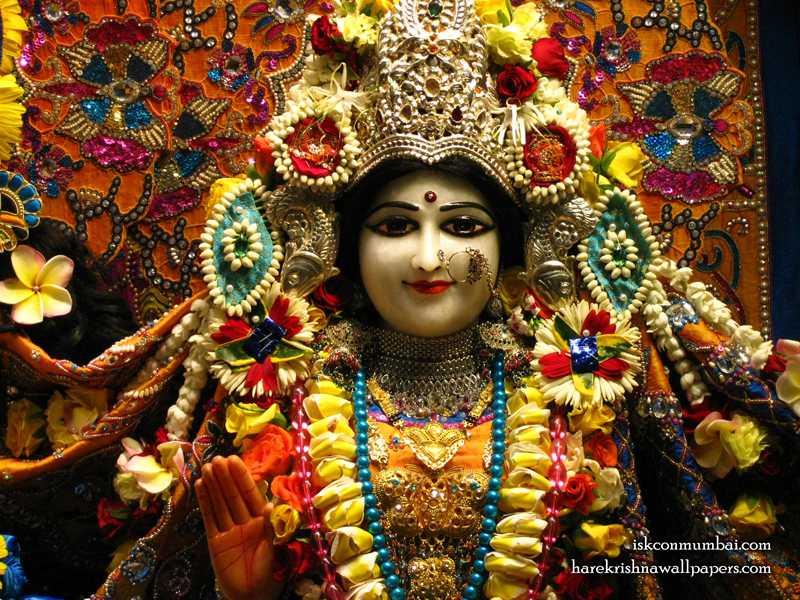 Sri Radha Face Wallpaper (010)