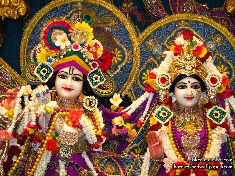 Sri Sri Radha Rasabihari Close up Wallpaper (010)