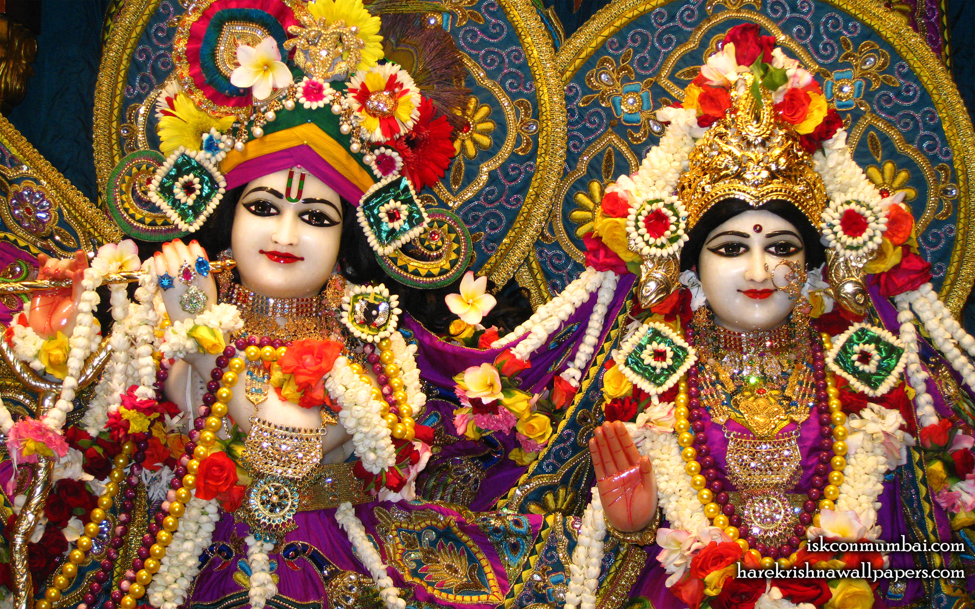 Sri Sri Radha Rasabihari Close up Wallpaper (010) Size 1920x1200 Download