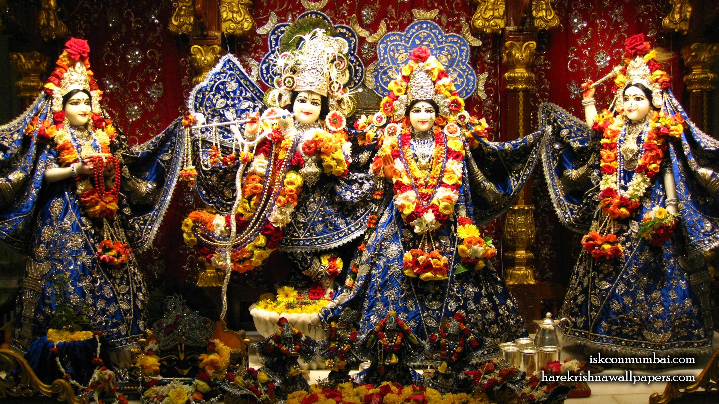 Sri Sri Radha Rasabihari Lalita Vishakha Wallpaper (010) Size 2400x1350 Download