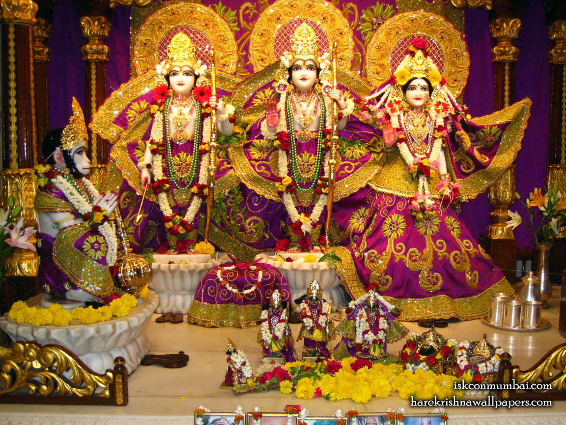 Sri Sri Sita Rama Laxman Hanuman Wallpaper (010) Size 1152x864 Download