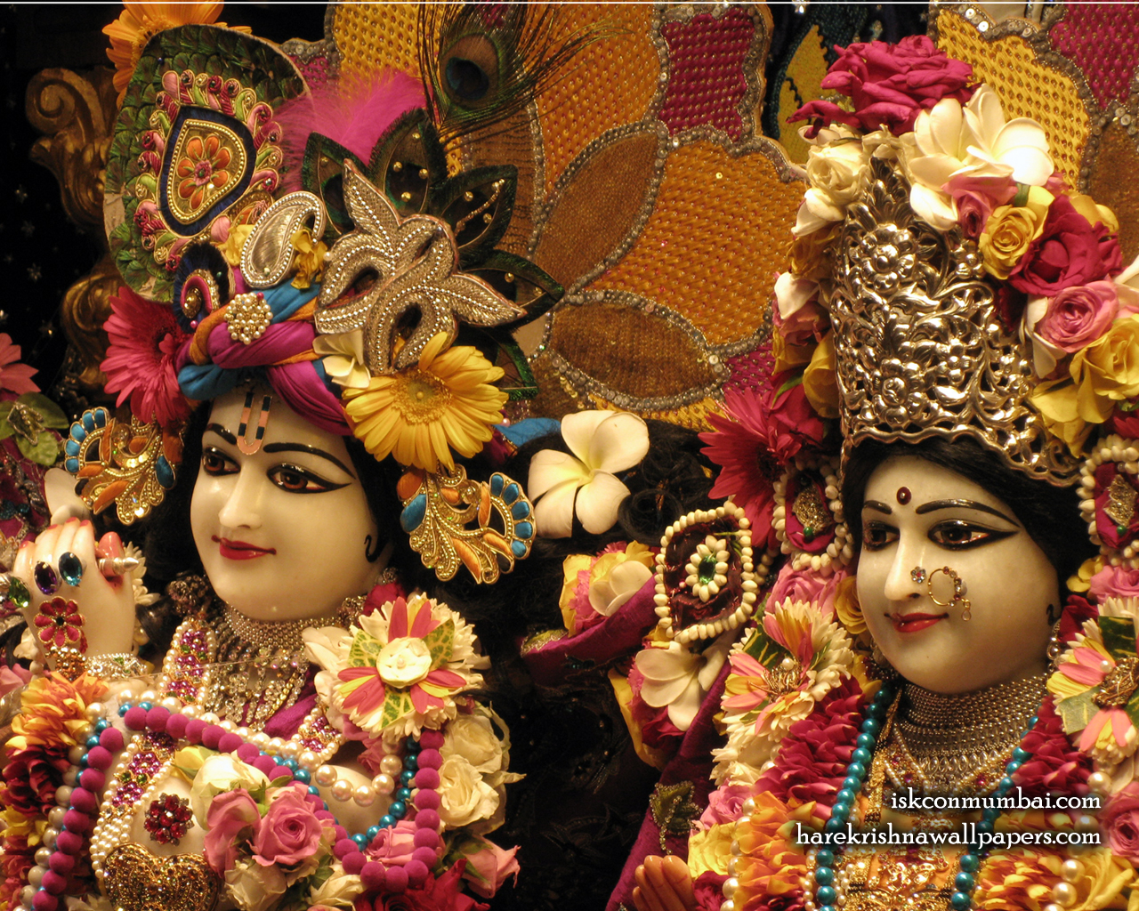 Sri Sri Radha Rasabihari Close up Wallpaper (011) Size 1280x1024 Download