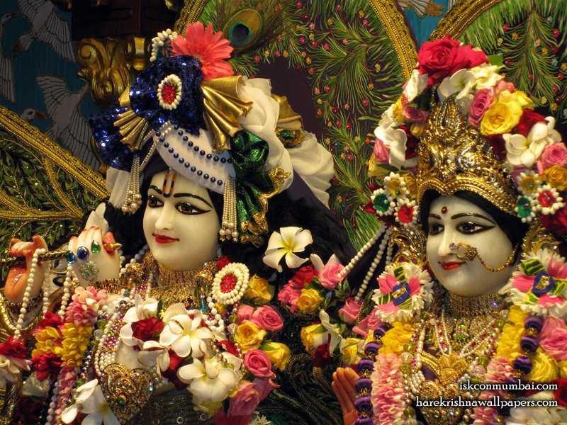 Sri Sri Radha Rasabihari Close up Wallpaper (012)