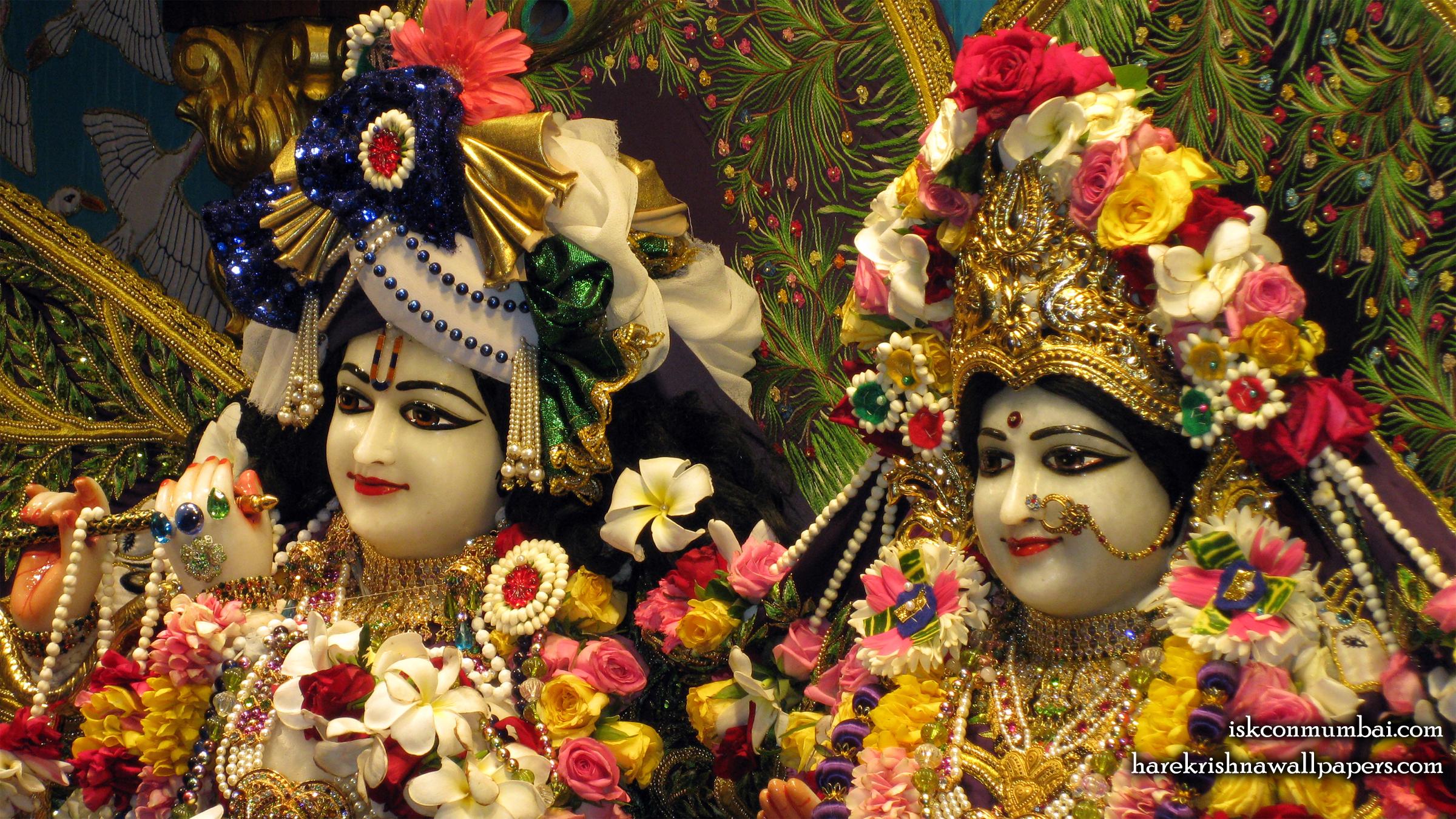 Sri Sri Radha Rasabihari Close up Wallpaper (012) Size 2400x1350 Download