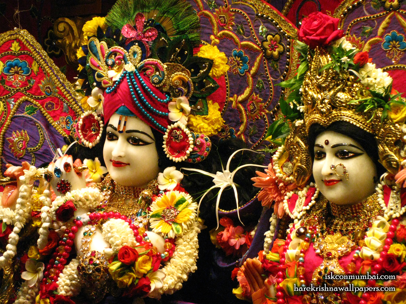 Sri Sri Radha Rasabihari Close up Wallpaper (013) Size1600x1200 Download