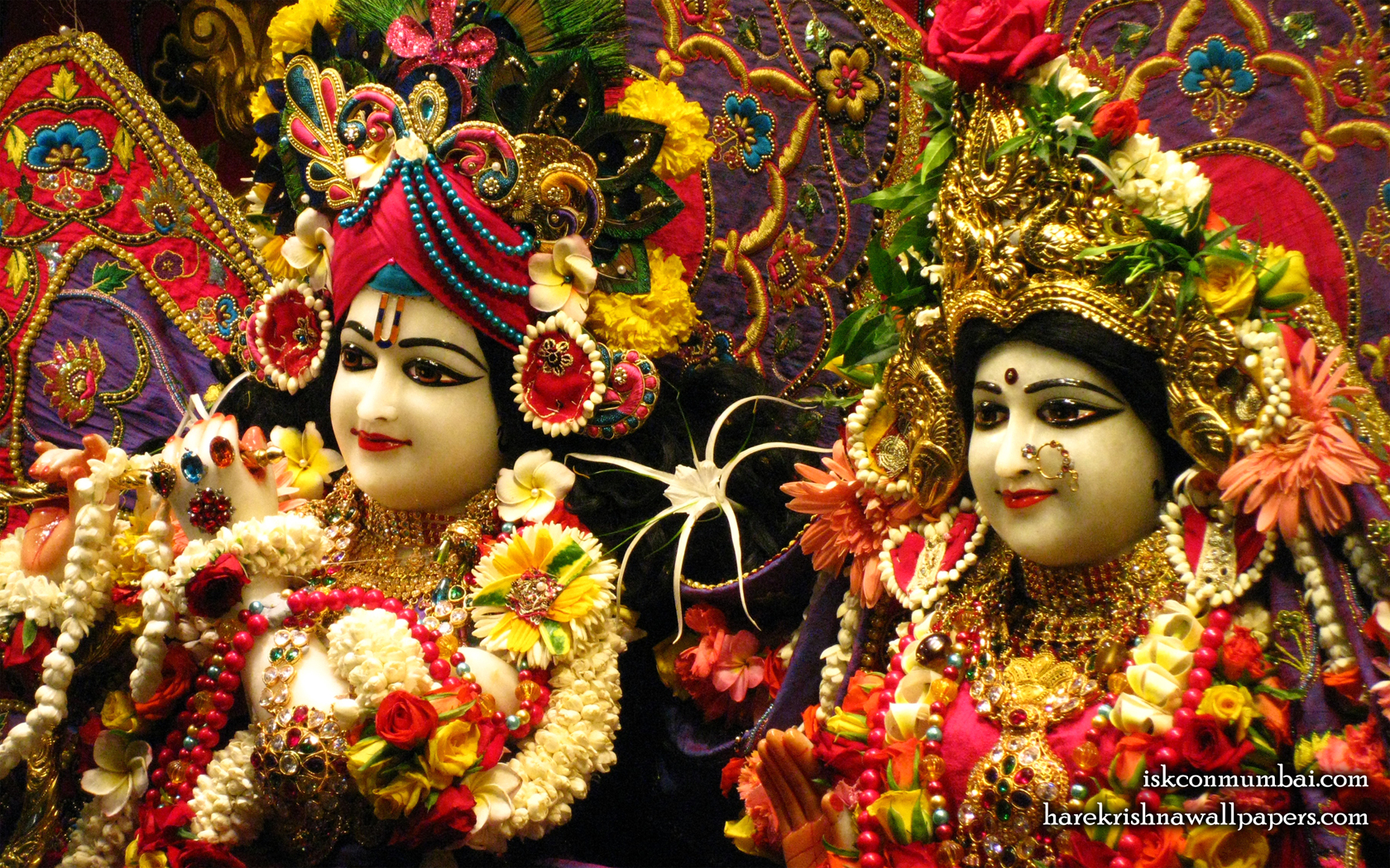 Sri Sri Radha Rasabihari Close up Wallpaper (013) Size 1680x1050 Download