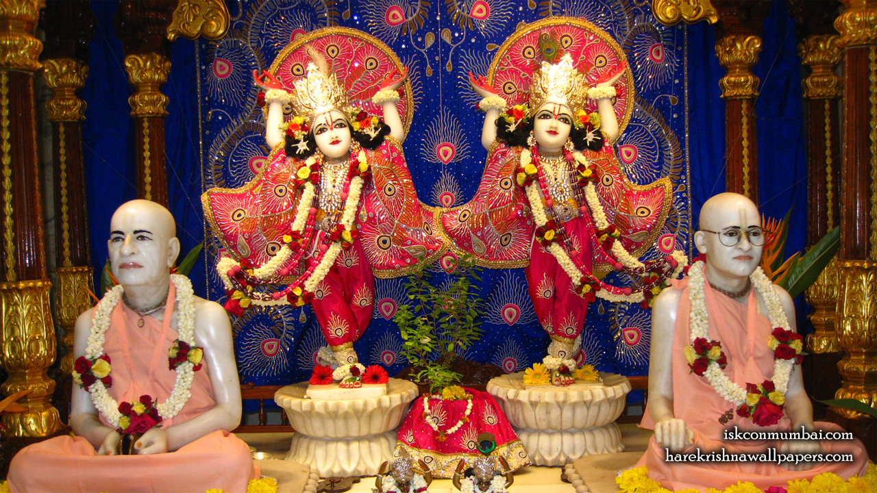 Sri Sri Gaura Nitai With Acharyas Wallpaper (014) Size1280x720 Download
