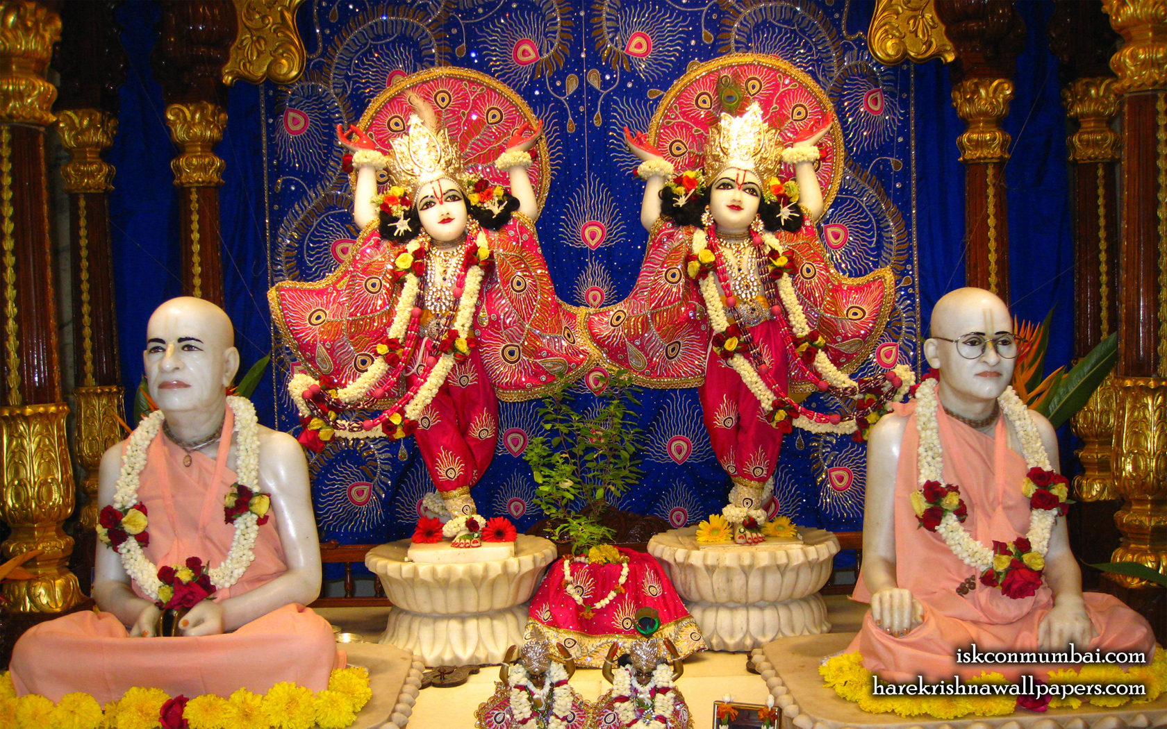 Sri Sri Gaura Nitai With Acharyas Wallpaper (014) Size 1680x1050 Download