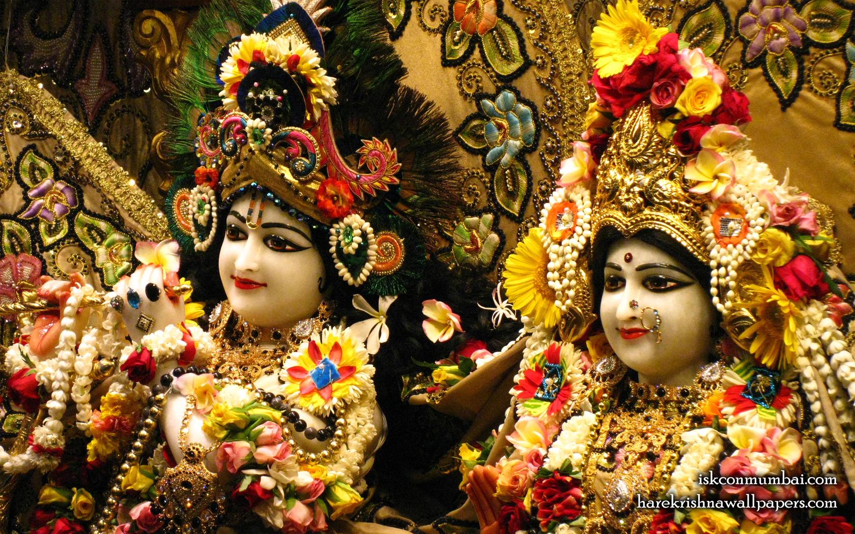 Sri Sri Radha Rasabihari Close up Wallpaper (014) Size 1680x1050 Download