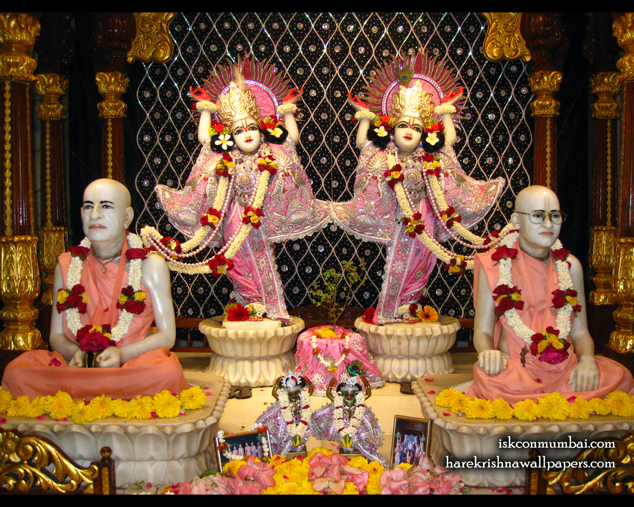 Sri Sri Gaura Nitai With Acharyas Wallpaper (015) Size 1280x1024 Download
