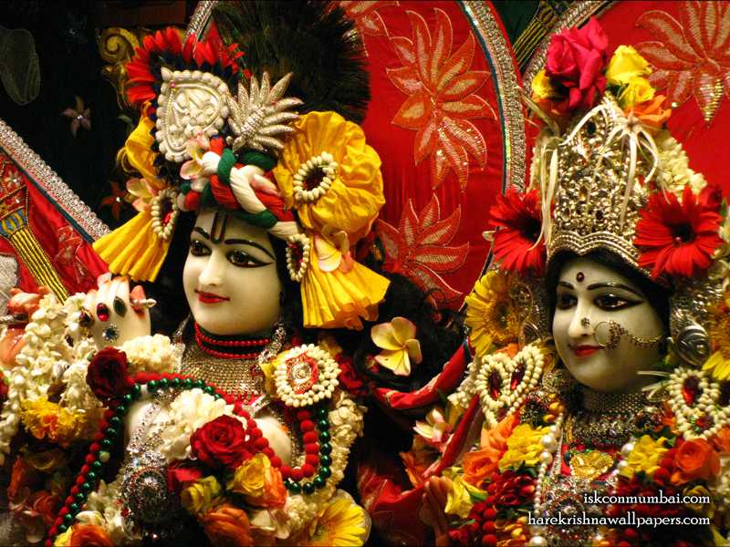 Sri Sri Radha Rasabihari Close up Wallpaper (015)