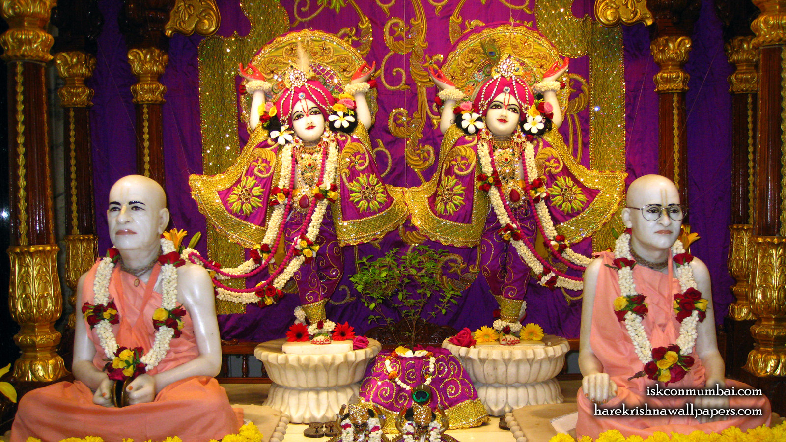 Sri Sri Gaura Nitai With Acharyas Wallpaper (016) Size 1600x900 Download