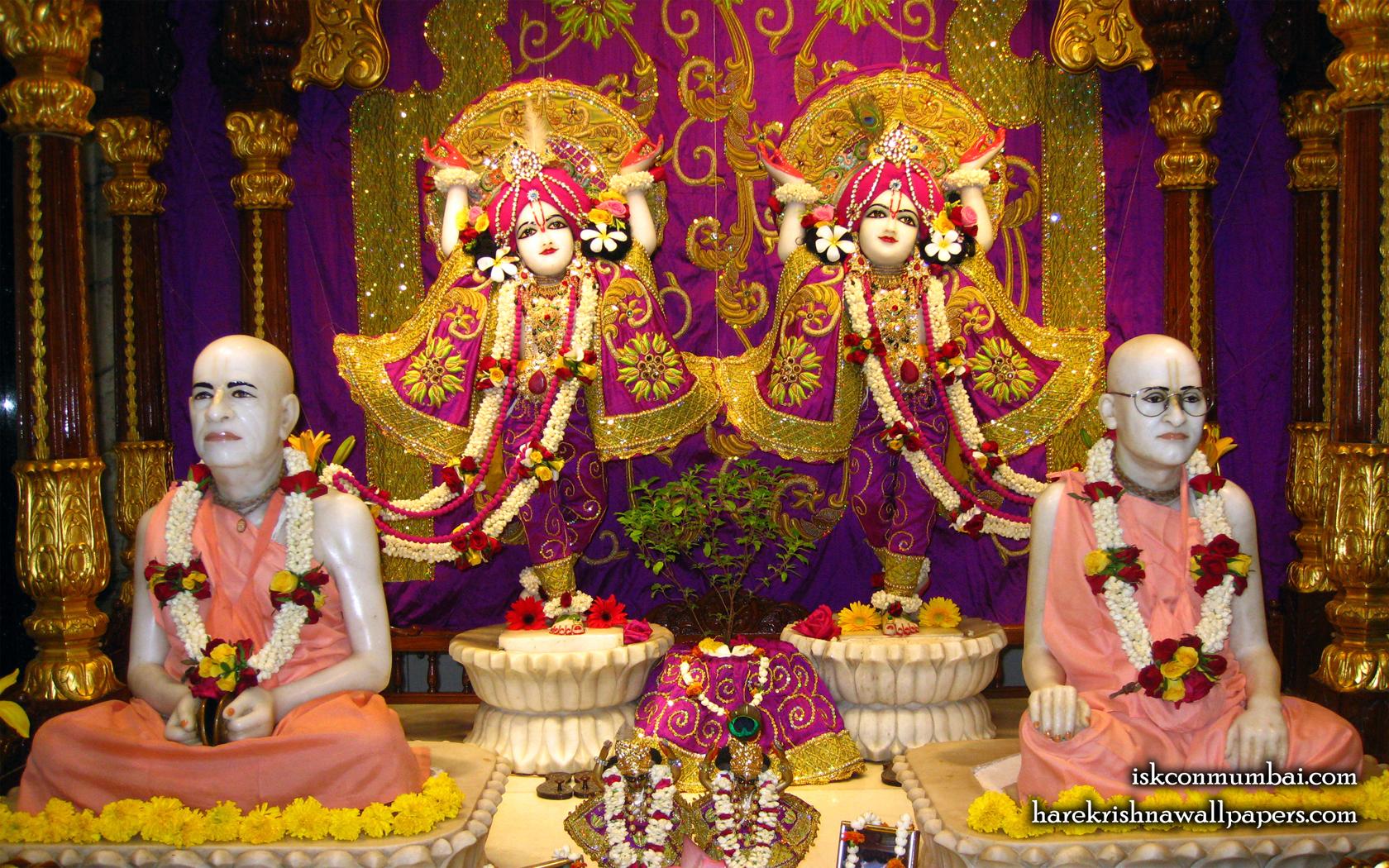 Sri Sri Gaura Nitai With Acharyas Wallpaper (016) Size 1680x1050 Download