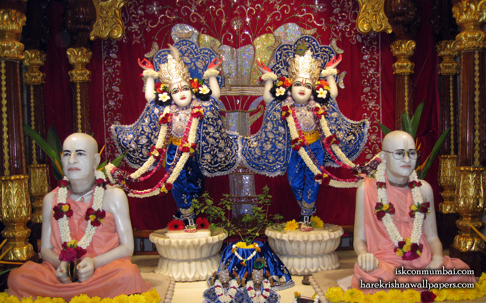 Sri Sri Gaura Nitai With Acharyas Wallpaper (017) Size 1680x1050 Download