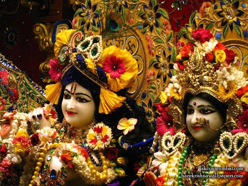 Sri Sri Radha Rasabihari Close up Wallpaper (017)