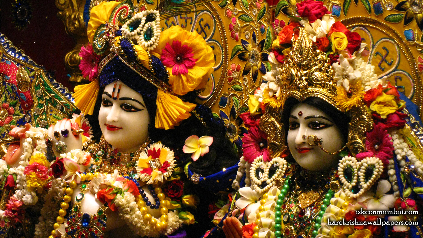 Sri Sri Radha Rasabihari Close up Wallpaper (017) Size 1600x900 Download