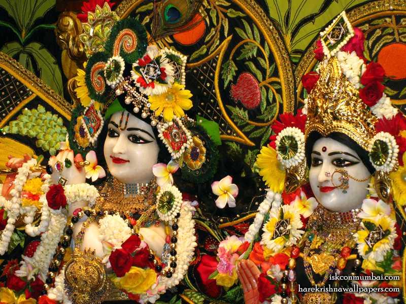 Sri Sri Radha Rasabihari Close up Wallpaper (018)