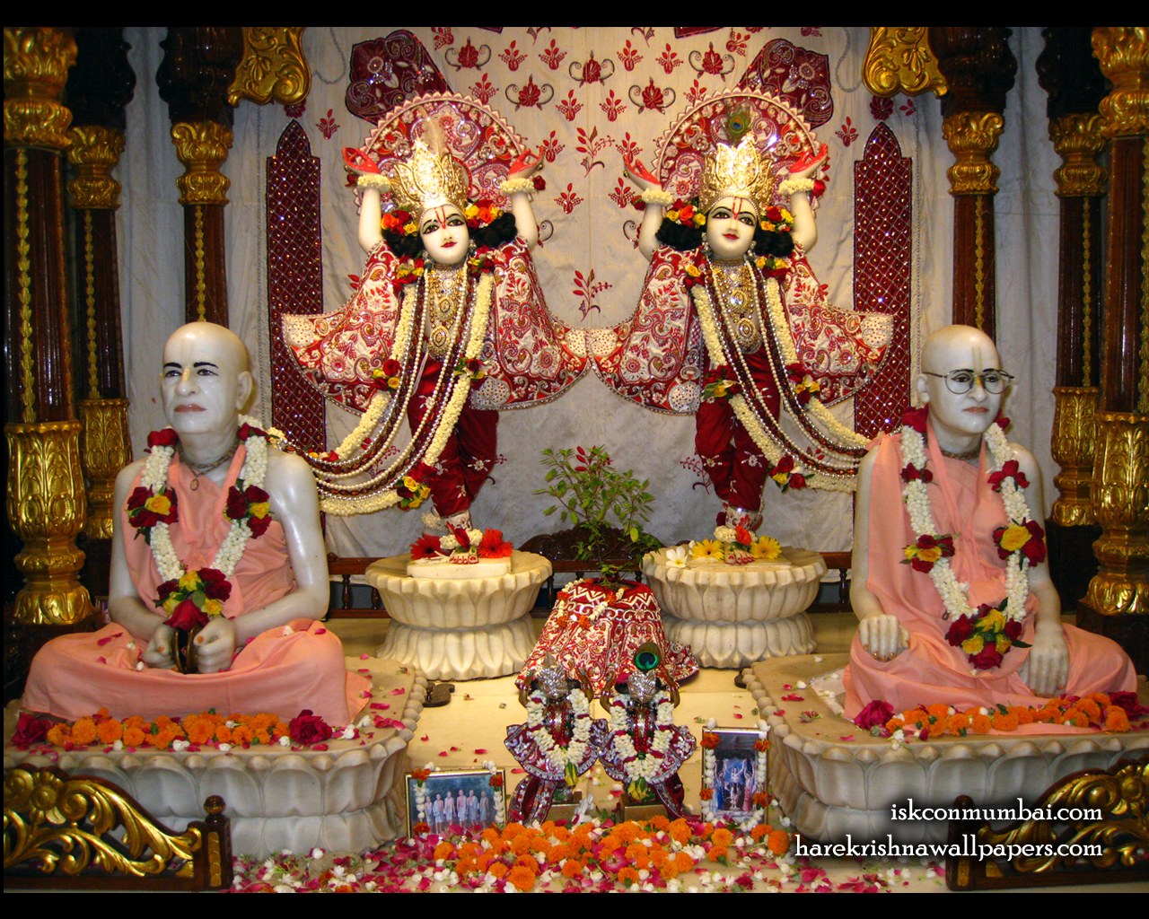 Sri Sri Gaura Nitai With Acharyas Wallpaper (020) Size 1280x1024 Download